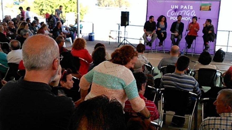 Acto en Orellana / Twitter @Podemos_EXT