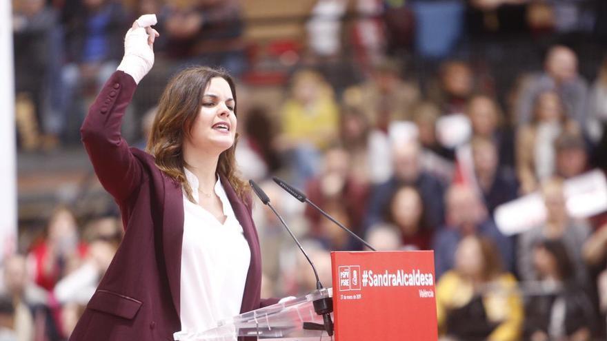 Sandra Gómez durante su intervención.