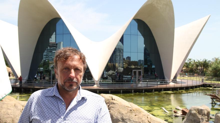 Roberto Rinaldi, inventor del 3D submarino, en el Oceanogràfic