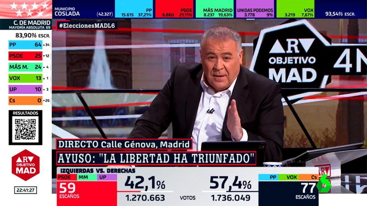 Antonio García Ferreras, en el especial 'ARV: Objetivo Madrid'