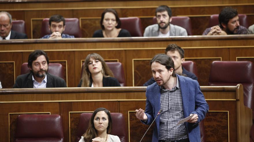"""Pablo Iglesias ve """"legítimo"""" que el PSOE use una ley de violencia machista para evitar el veto del PP al techo de gasto"""