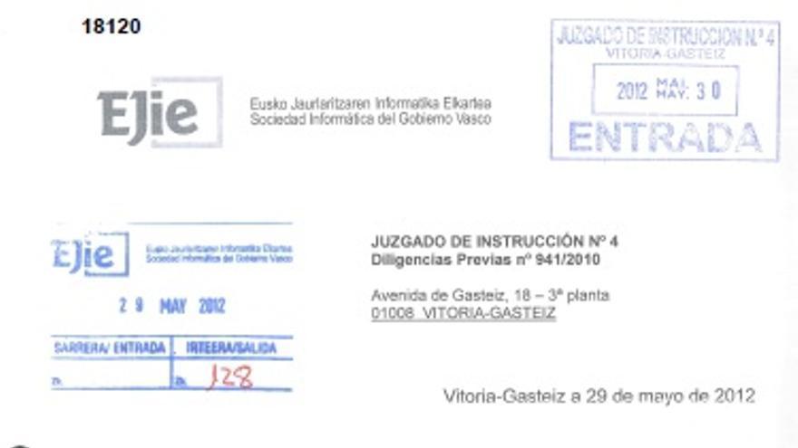 Informe de EJIE sobre el disco duro de Sánchez Robles
