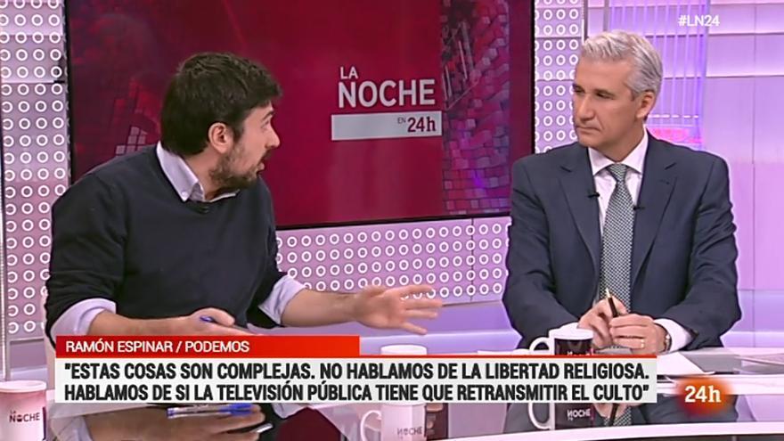 Ramón Espinar y Víctor Arribas en La Noche en 24 Horas