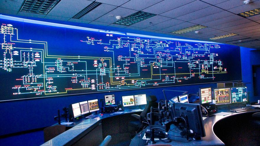 Centro de control de la filial de Iberdrola en el Estado de Maine.