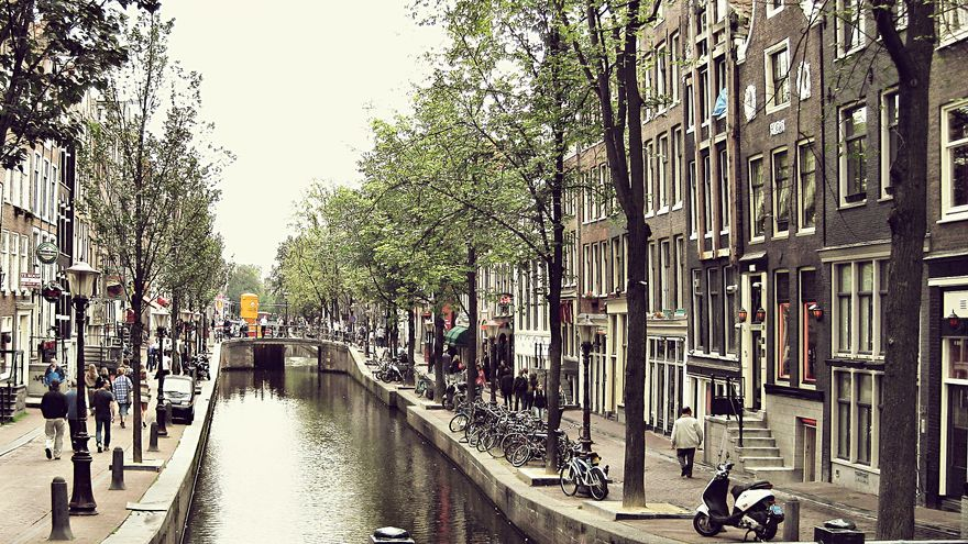 Vista de la ciudad de Ámsterdam.
