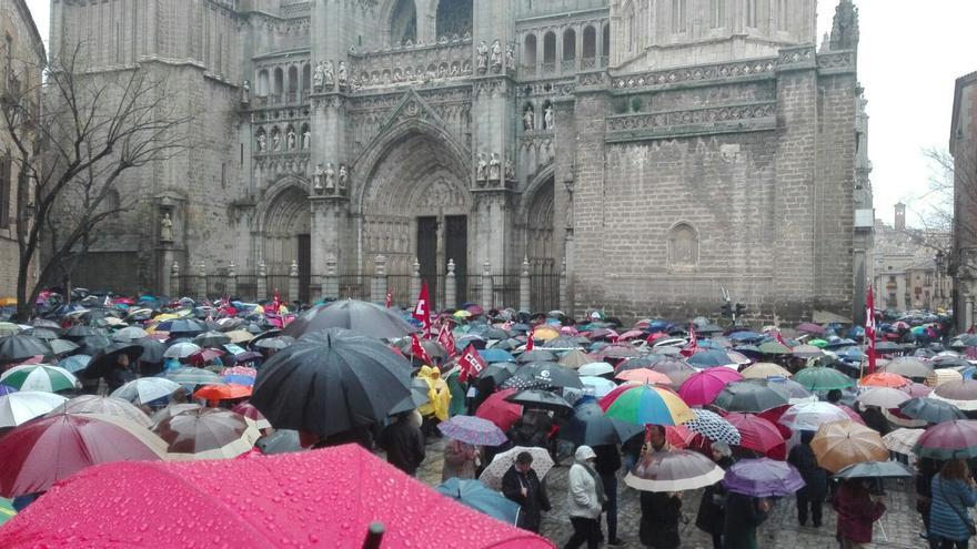 Manifestación en Toledo. FOTO: eldiarioclm.es