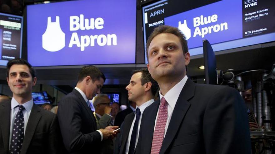 La firma Blue Apron empieza a cotizar en Wall Street con una subida del 6 %