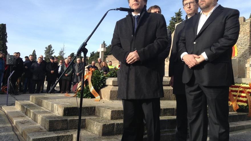 """Puigdemont invoca el """"coraje la esperanza y la libertad"""" de Macià como ejemplo a seguir"""