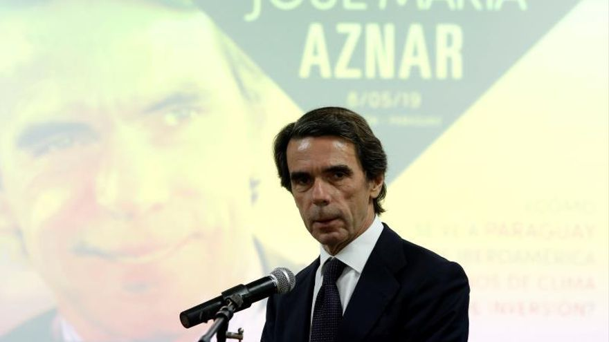 """Aznar defiende una """"intervención"""" en Venezuela para apoyar a Guaidó"""