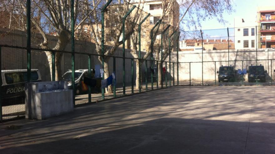 Una imagen del patio del CIE de Zapadores, en València.