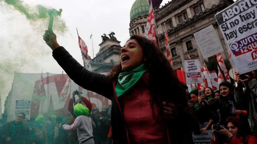 Defensoras de la legalización del aborto en Argentina