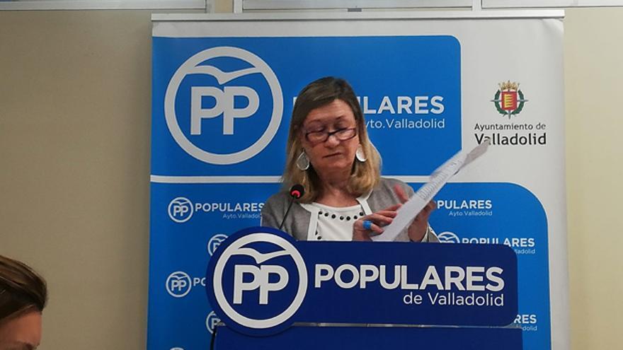 La portavoz del Grupo Popular de Valladolid, Pilar del Olmo.