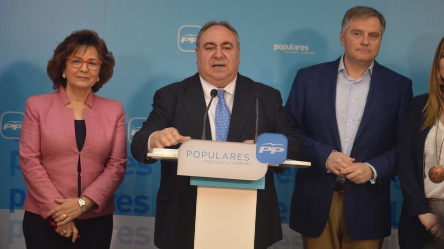 Vicente Tirado presenta la campaña electoral del PP en Castilla-La Mancha / Foto: Javier Robla