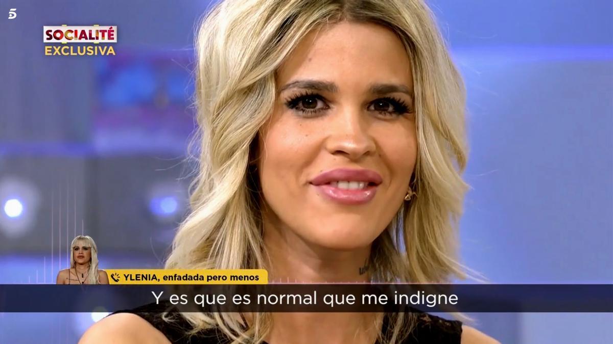 Ylenia en un programa de Telecinco