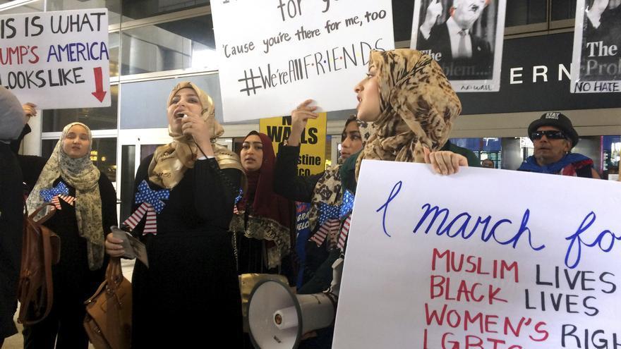 Manifestación antirracista en Los Ángeles