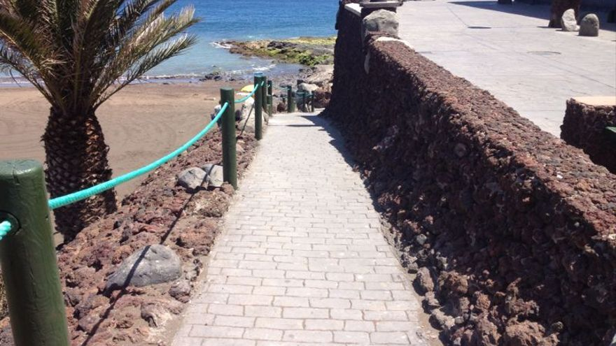 Mejora en la playa de Melenara tras el temporal