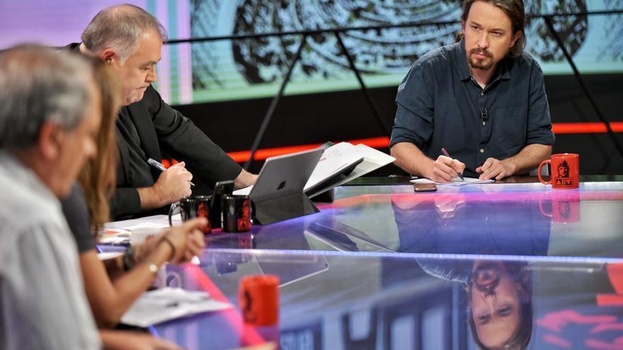 Pablo Iglesias, durante la entrevista de este viernes en La Sexta.