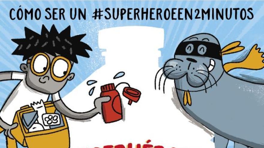 'Superhéroes contra el plástico' de Martin Dorey e ilustrado por Tim Wesson
