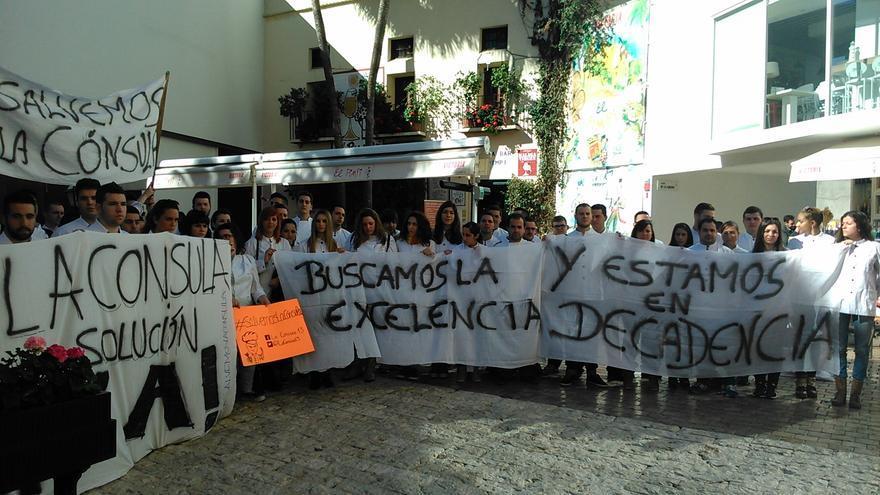 Los alumnos de La Cónsula, el martes por la mañana / N.C.