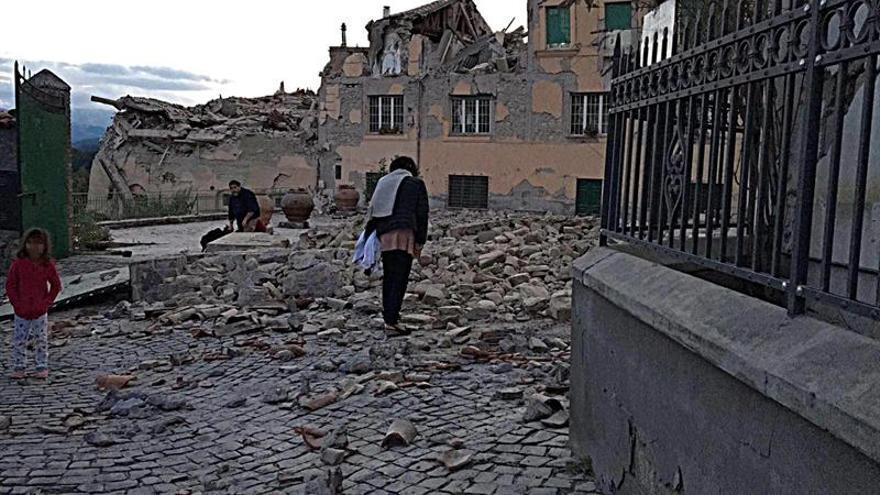 Una calle de Amatrice, una de las localidades más afectadas por el terremoto