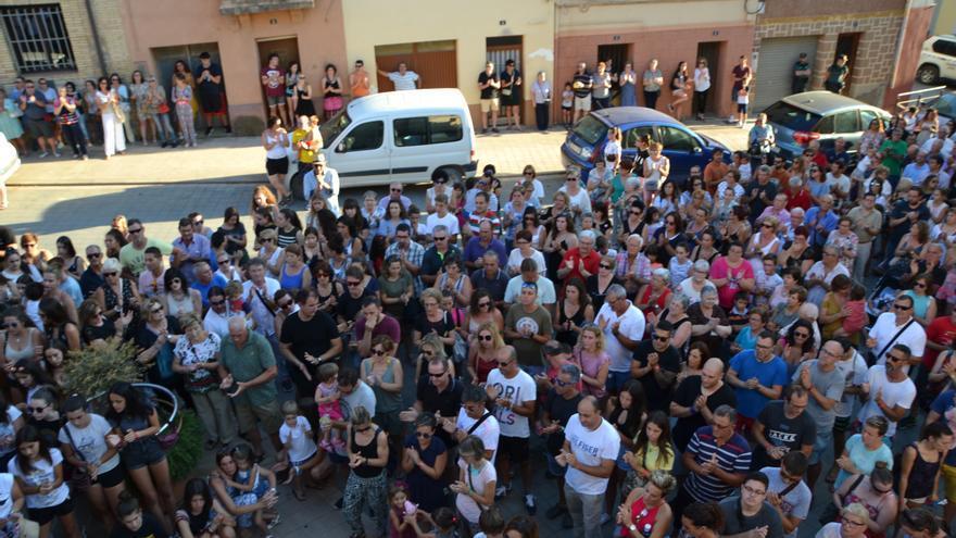 Concentración en Binaced (Huesca) por la violación de una menor
