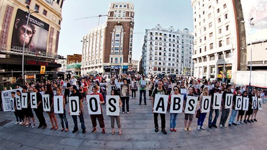 Movilización ciudadana por la absolución de los animalistas detenidos. Madrid, 2011