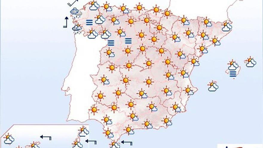 Hoy, temperaturas en ascenso en buena parte de la Península