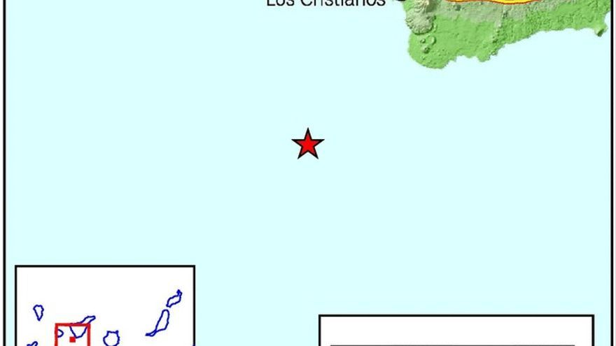 Seísmo al suroeste de Tenerife.