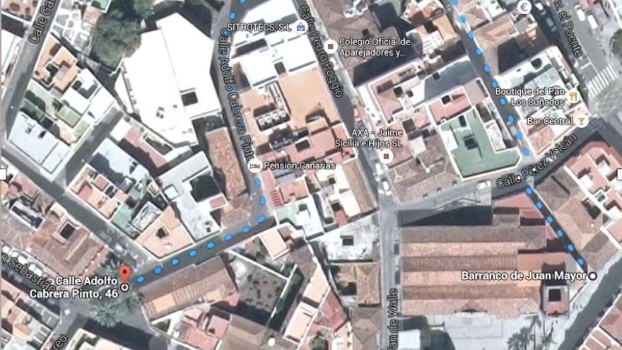 Panorámica de Google Earth del barrio de San Sebastián.