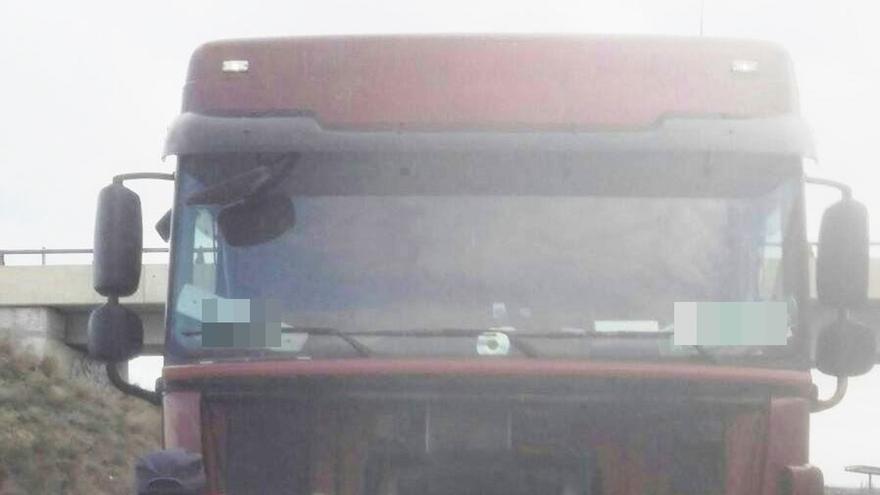 Denunciado un camionero en Ribaforada por manipular el sistema de tratamiento de gases