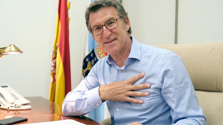 Feijóo celebra su cuarta mayoría en su despacho del PPdeG