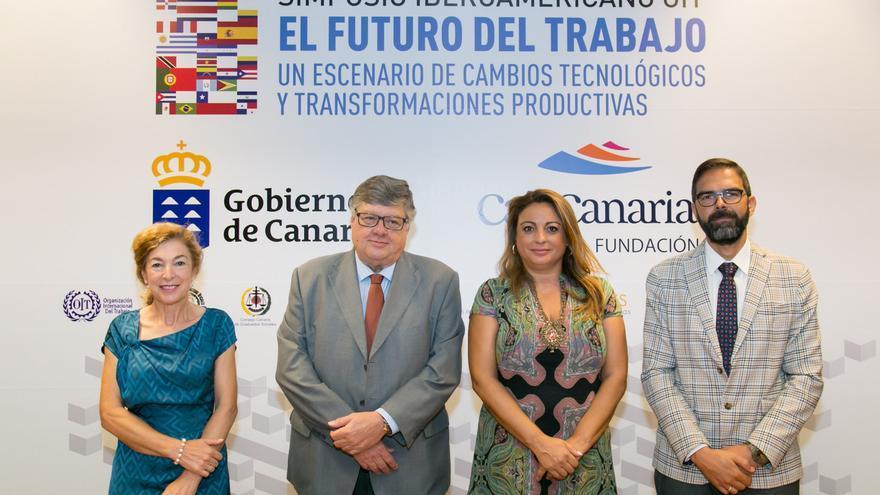 Acto de presentación del Simposio Iberoamericano de la Organización Internacional del Trabajo (OIT).