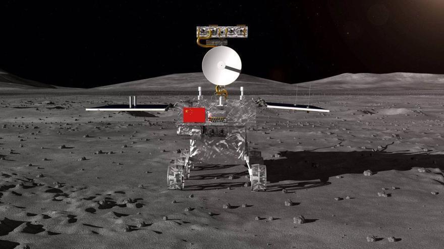La sonda 'Chang'e' 4 en la superficie lunar