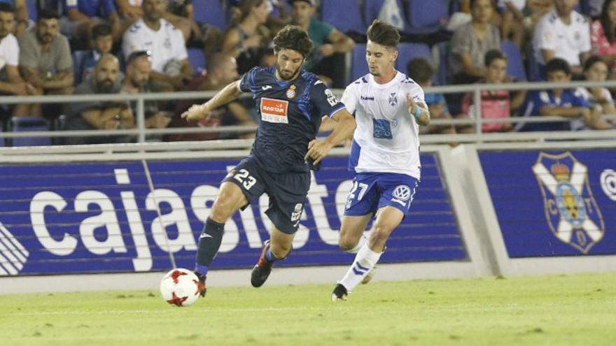 Partido entre el Espanyol y el CD Tenerife.