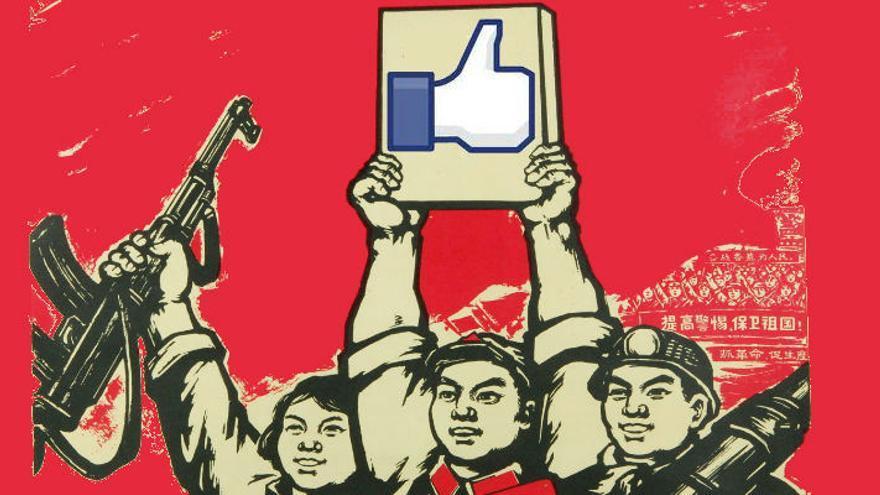 'Fei Si Bu Ke' es la pronunciación de Facebook con caracteres en chino mandarín