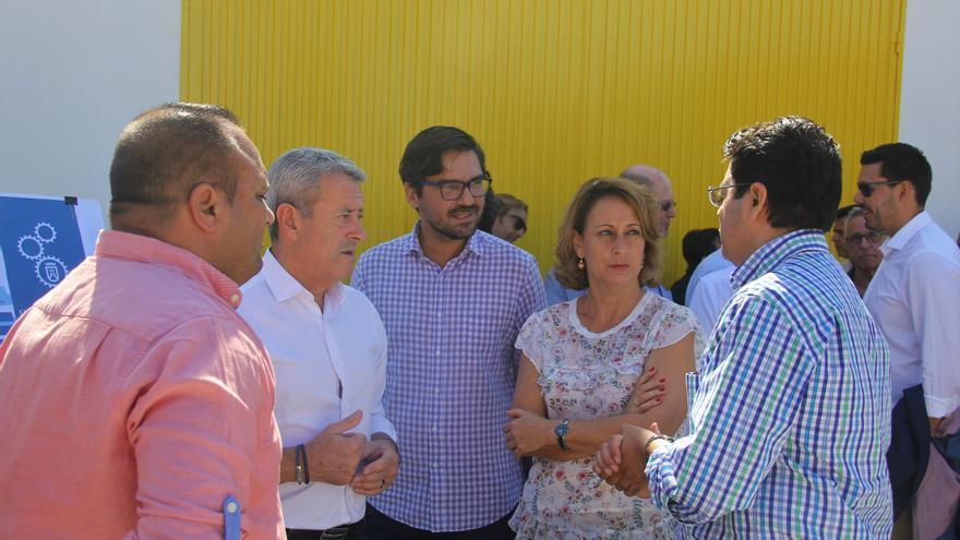 Aurelio Abreu, Manuel Martínez y Pedro Martín, todos del PSOE, este lunes en Guía de Isora