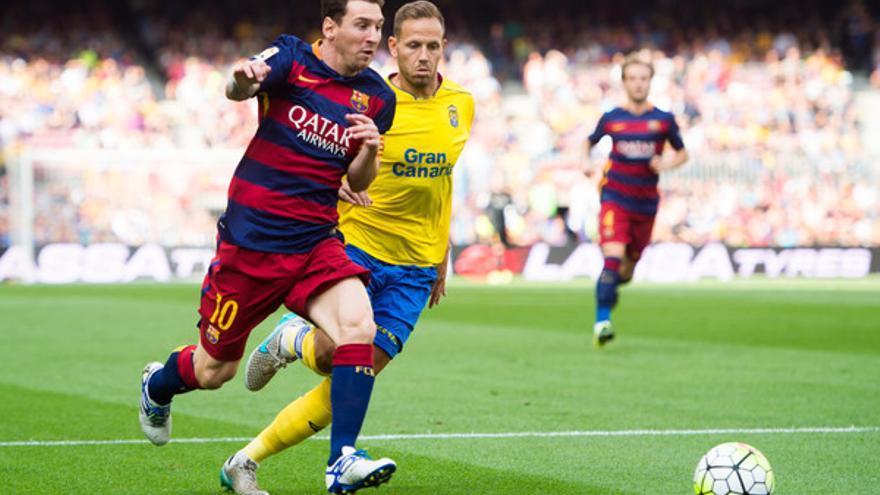 Partido entre el FC Barcelona y la UD Las Palmas en el Camp Nou la temporada pasada.