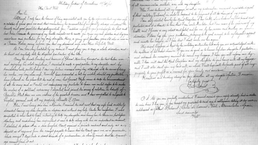 Carta de Luis Ramos al tendero inglés Paul Webb, 1905