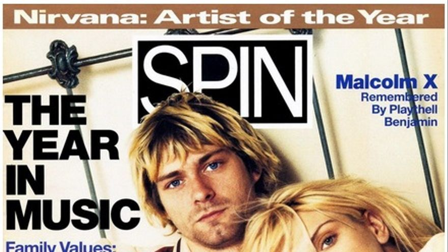 Portada revista Spin con Kurt Cobain y Courtney Love.