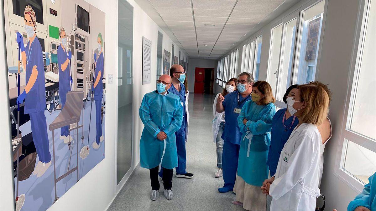 Exposición en el Hospital Reina Sofía.