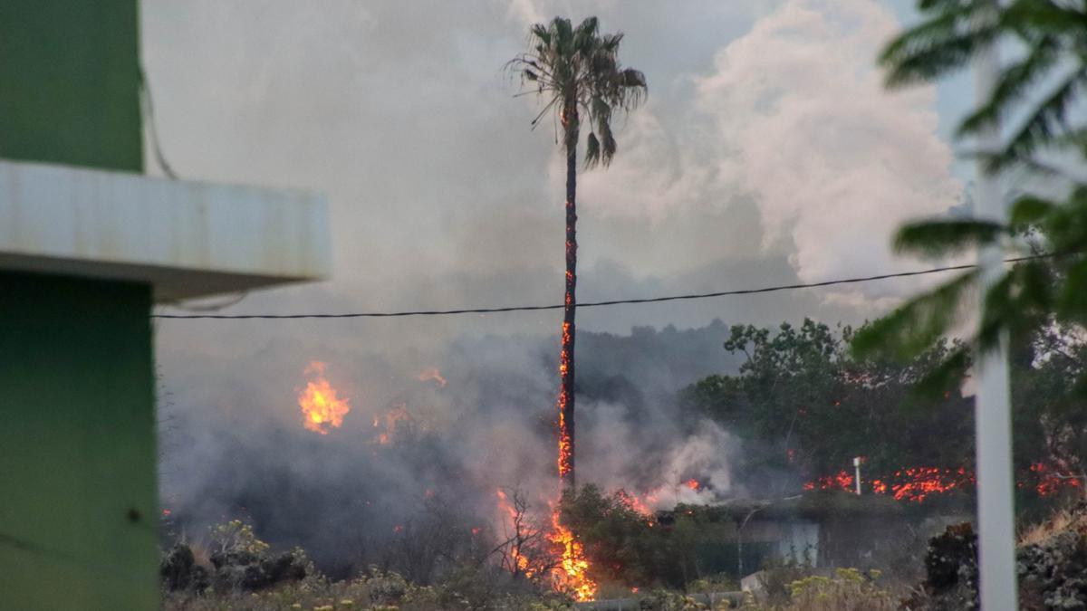 El volcán ha dañado viviendas y tendidos eléctricos. JOSÉ AYUT