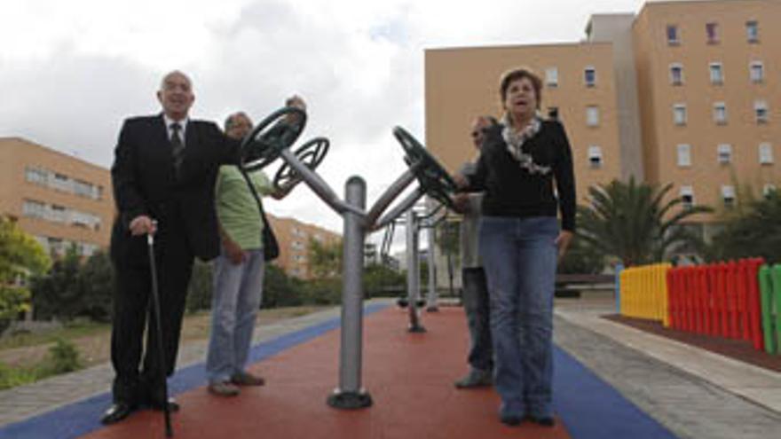 Nardy Barrios en la inauguración del parque. (ACFI PRESS)