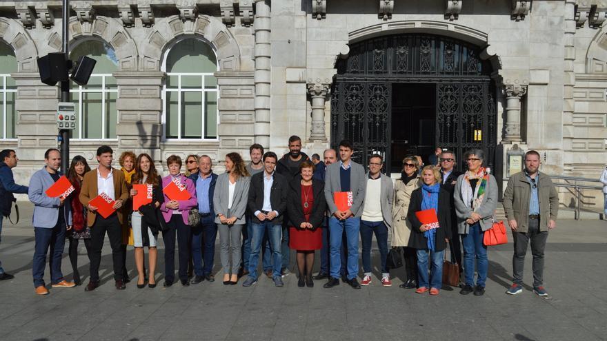 Presentación de la candidatura de Pedro Casares (PSOE). | RUBÉN ALONSO