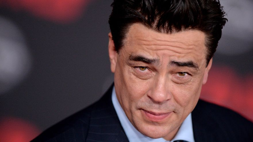 El actor Benicio del Toro durante el estreno de la película 'Star Wars: los últimos jedi' en diciembre de 2017.