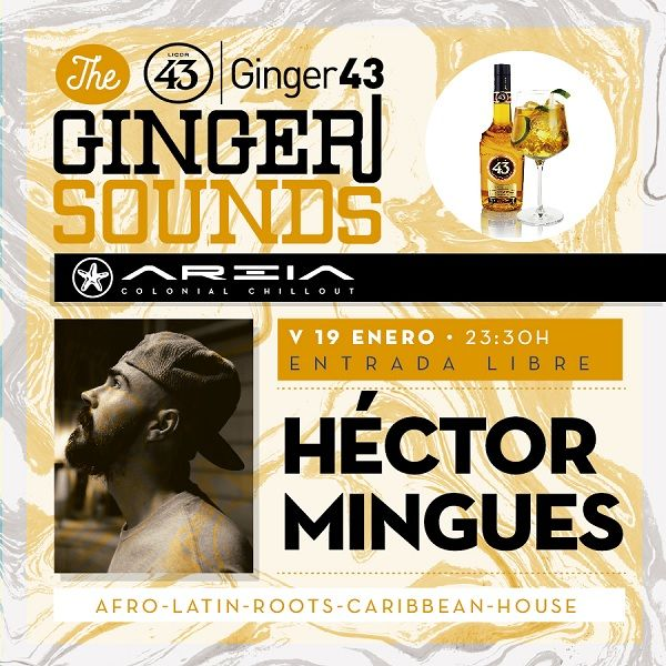 Cartel Ginger Sounds con Héctor Mingues