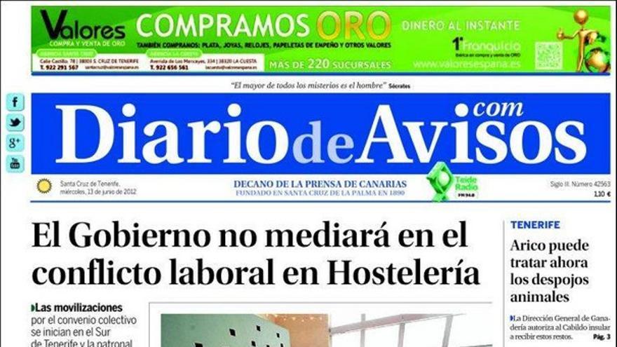 De las portadas del día (13/06/2012) #3