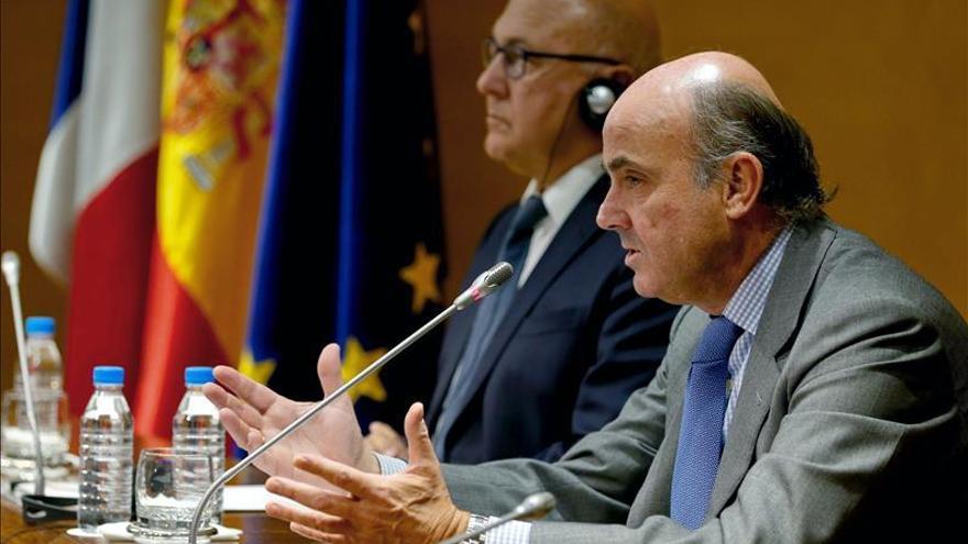 Francia y España son, ahora, los líderes de Europa, según De Guindos