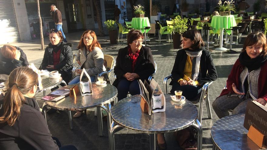 Desayuno de María González Veracruz con mujeres rurales de Murcia