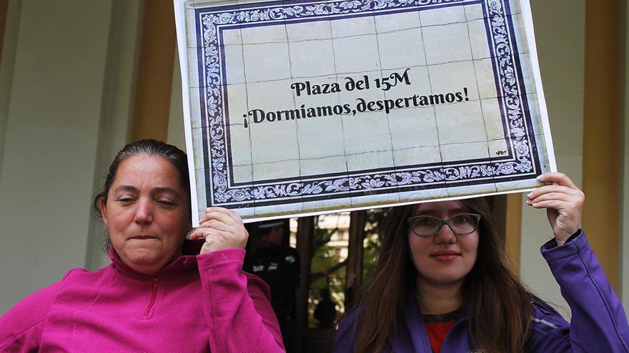 'Plaza del 15M ¡Dormíamos, despertamos¡, propuesta para las Setas de la Encarnación de Sevilla. / JUAN MIGUEL BAQUERO