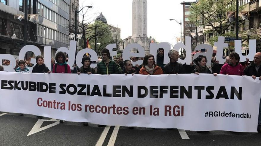 Manifestación en defensa de la RGI